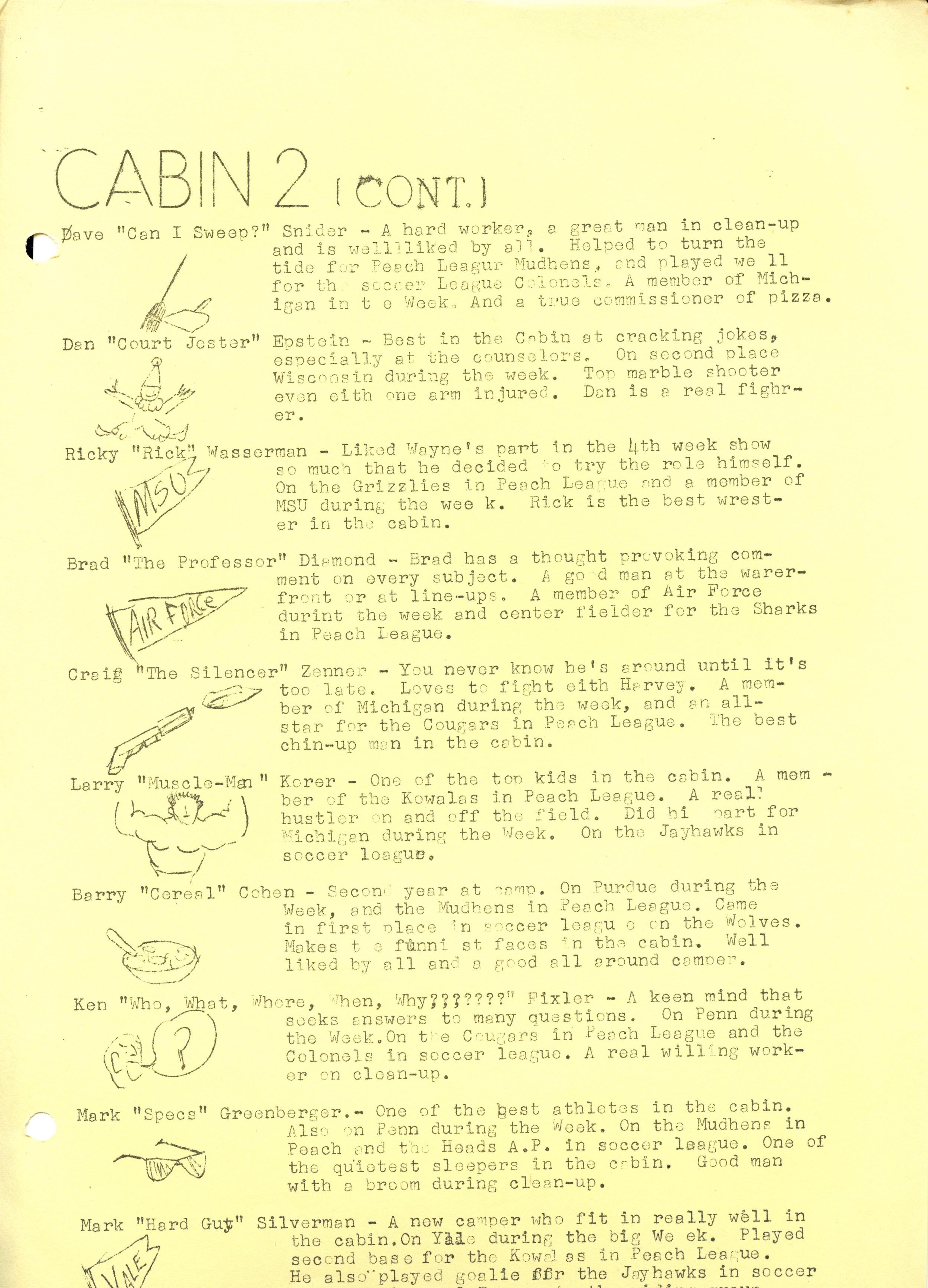 1969 Warrior — Camp Ojibwa History Project