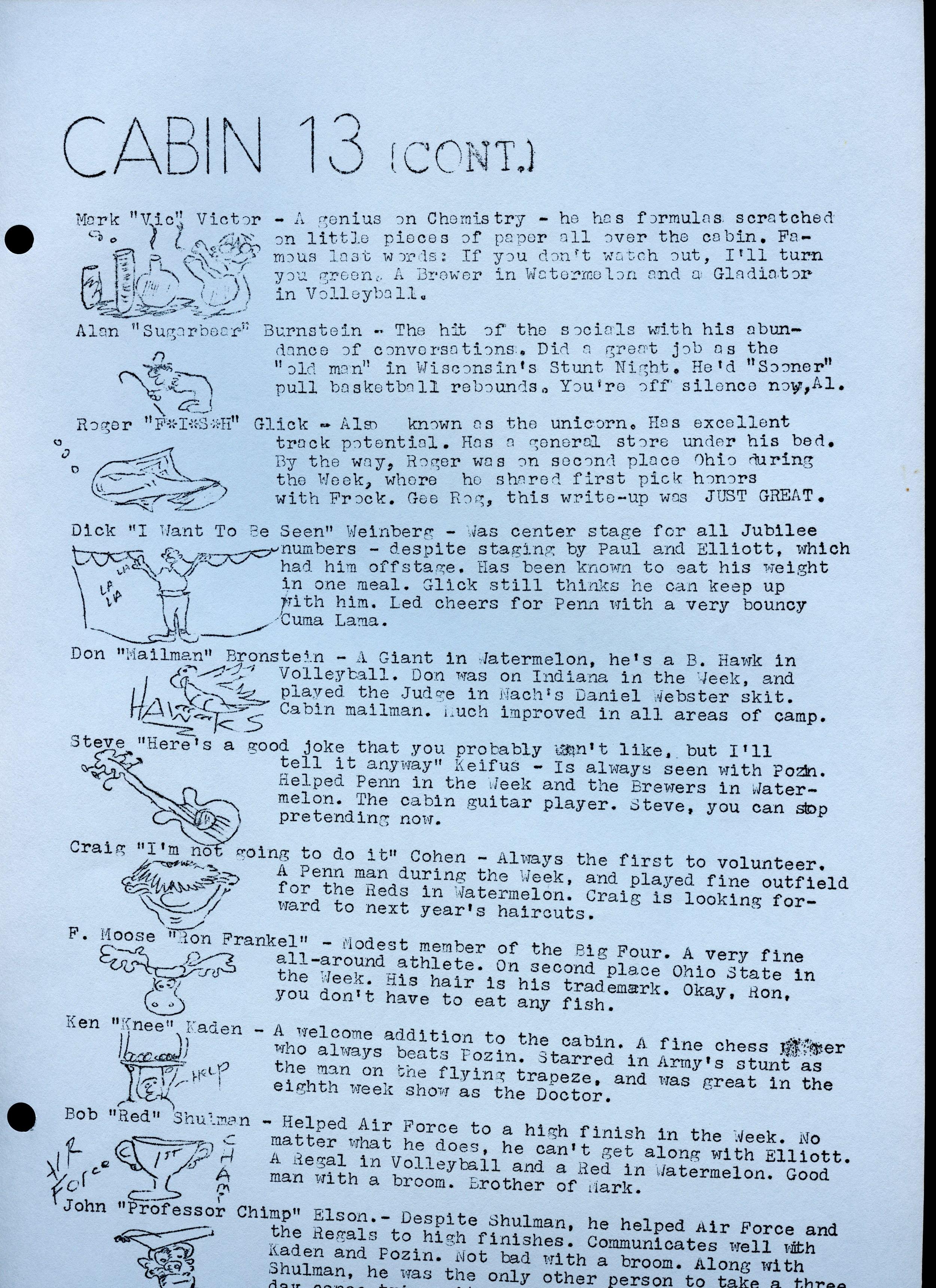 1970 Warrior — Camp Ojibwa History Project