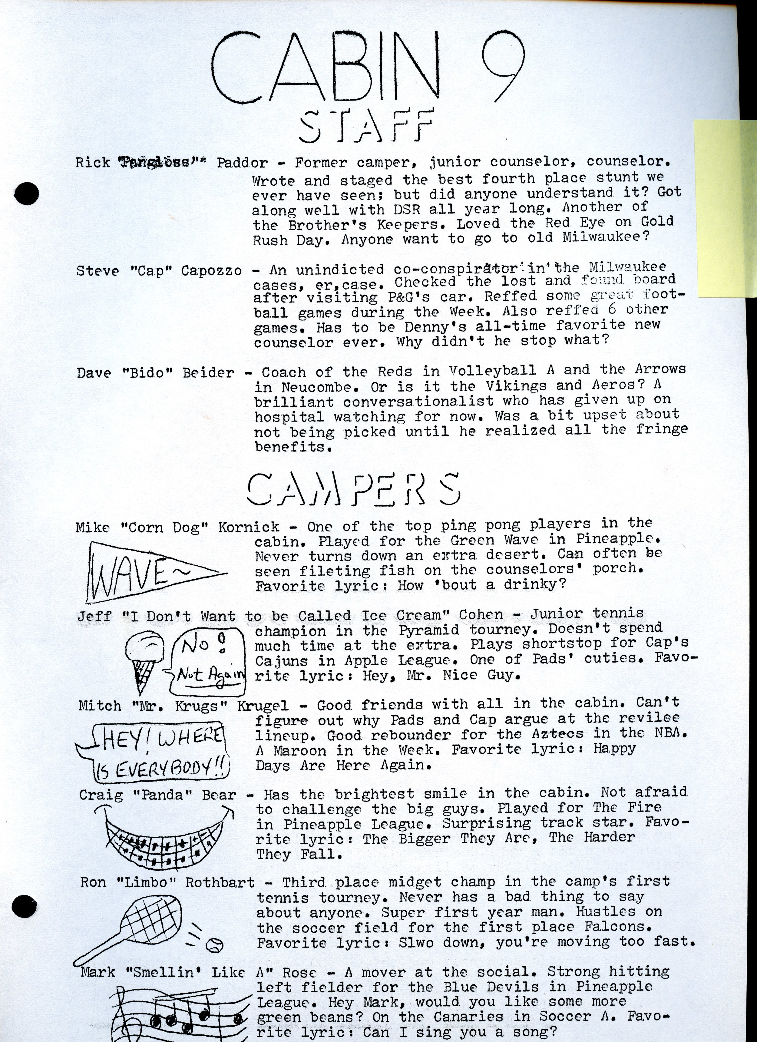 1974 Warrior — Camp Ojibwa History Project