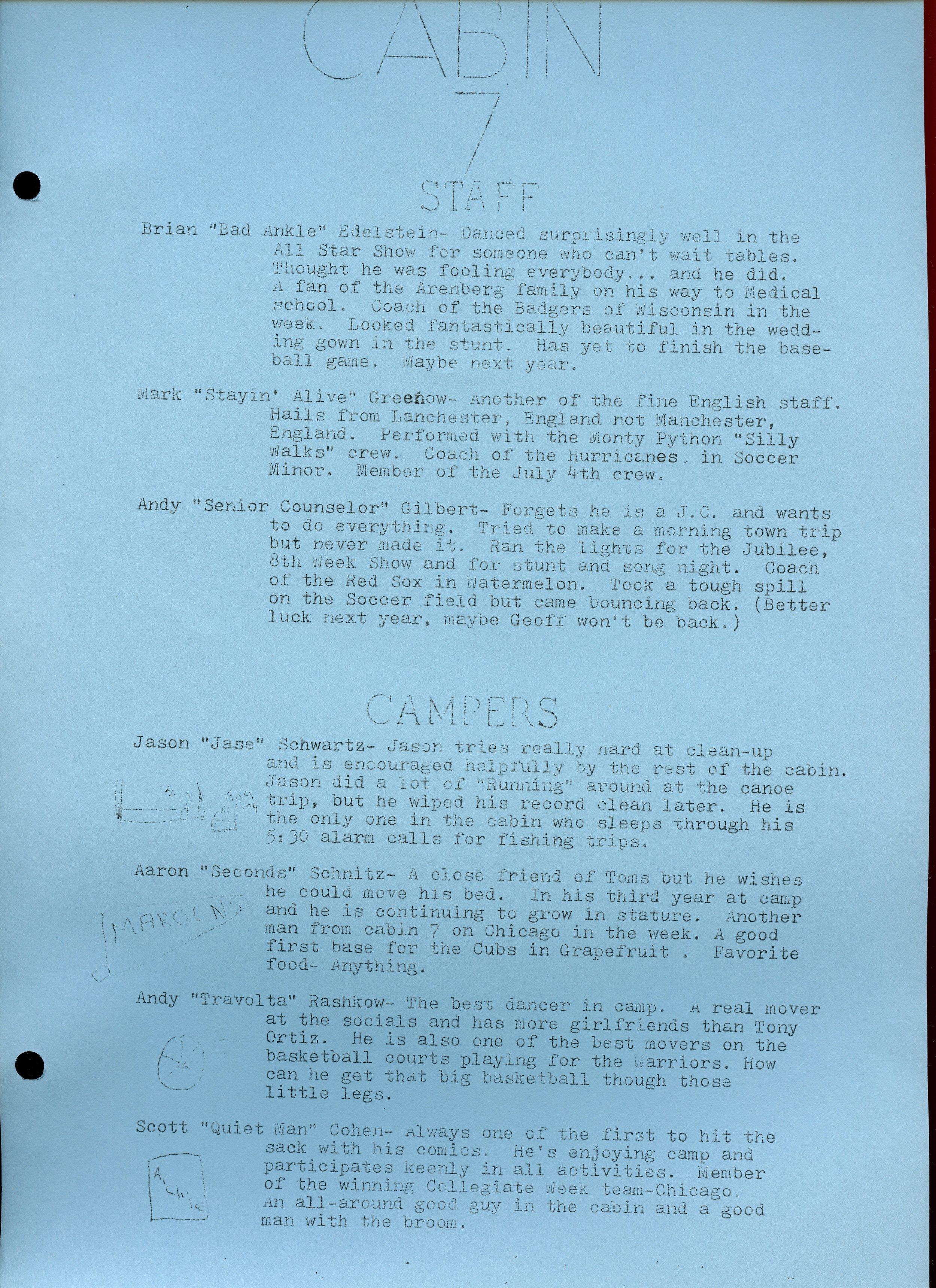 1979 Warrior — Camp Ojibwa History Project