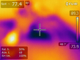 Leaks in attic around air conditioner.png