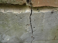 Large separating crack in the foundation.