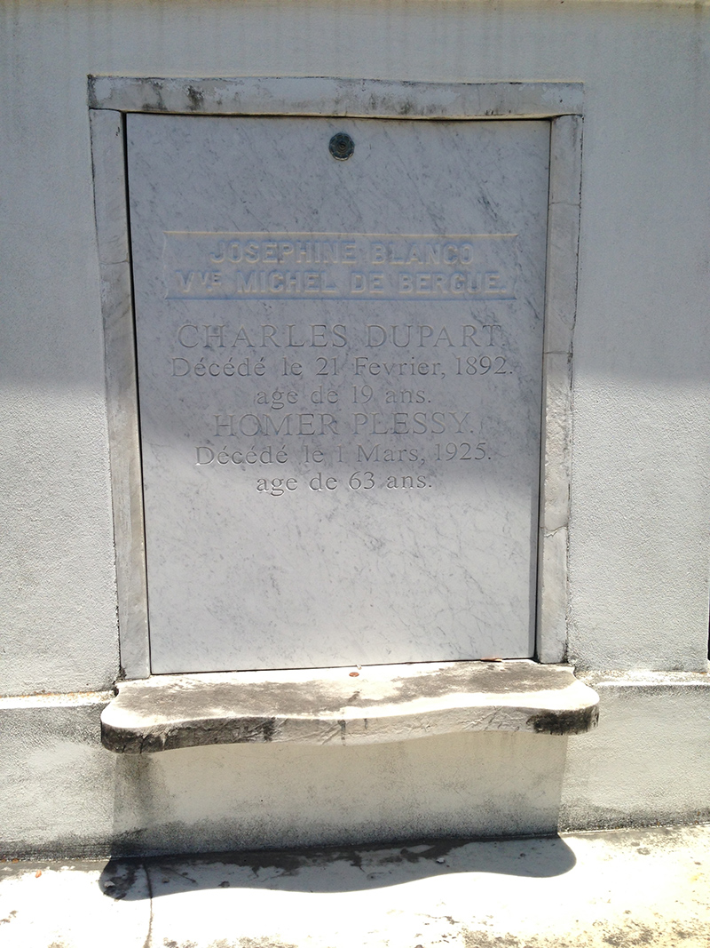 Homer Plessy tomb, St. Louis #1