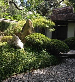 Japanese Garden inside the City Park Botanical Garden.