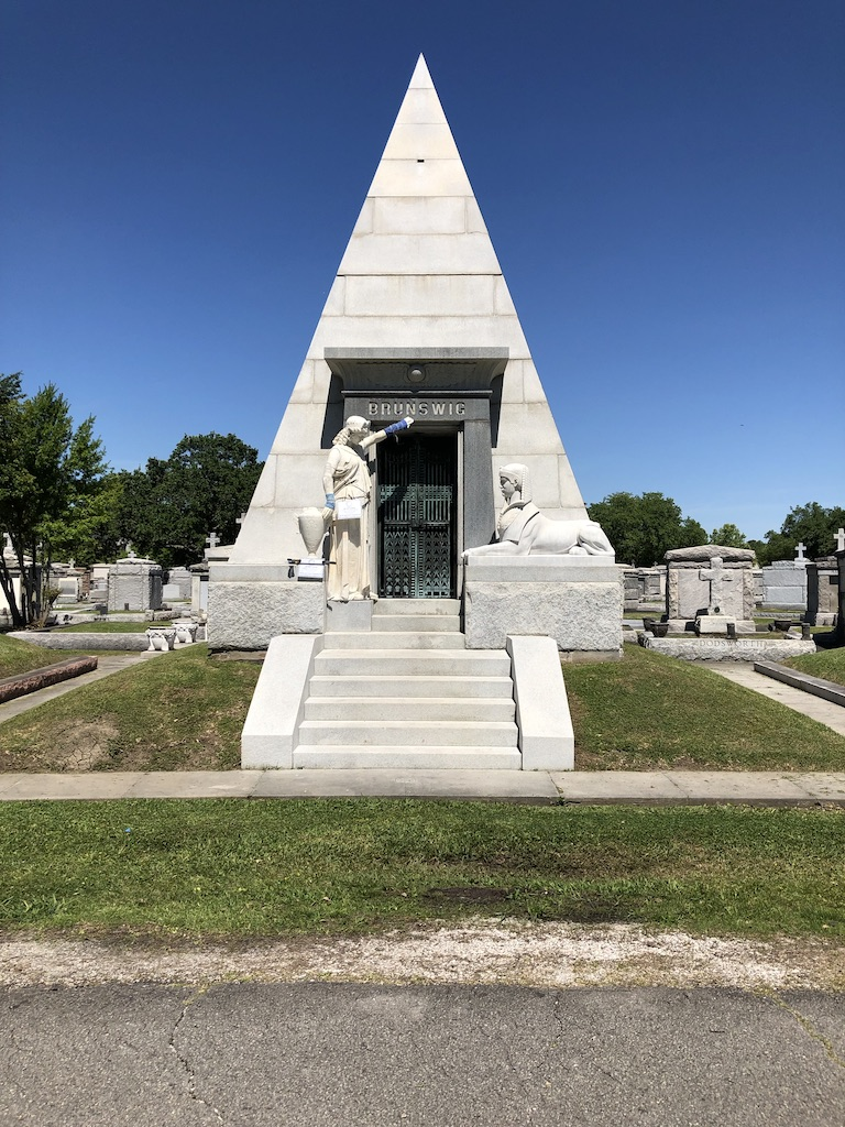 Pyramid Tomb in Metairie Cemetery