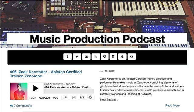 I recently had the honor of being featured as a guest on the Music Production Podcast. Big thanks to @afrodjmac for inviting me on.  I hope you enjoy listening to it as much as I enjoyed recording it.  #podcast #musicproduction #ableton #music #afrodjmac #zenotope