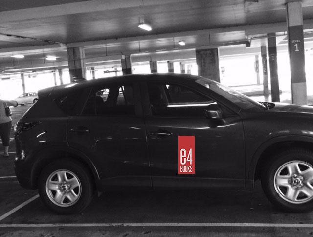 e4books car decal