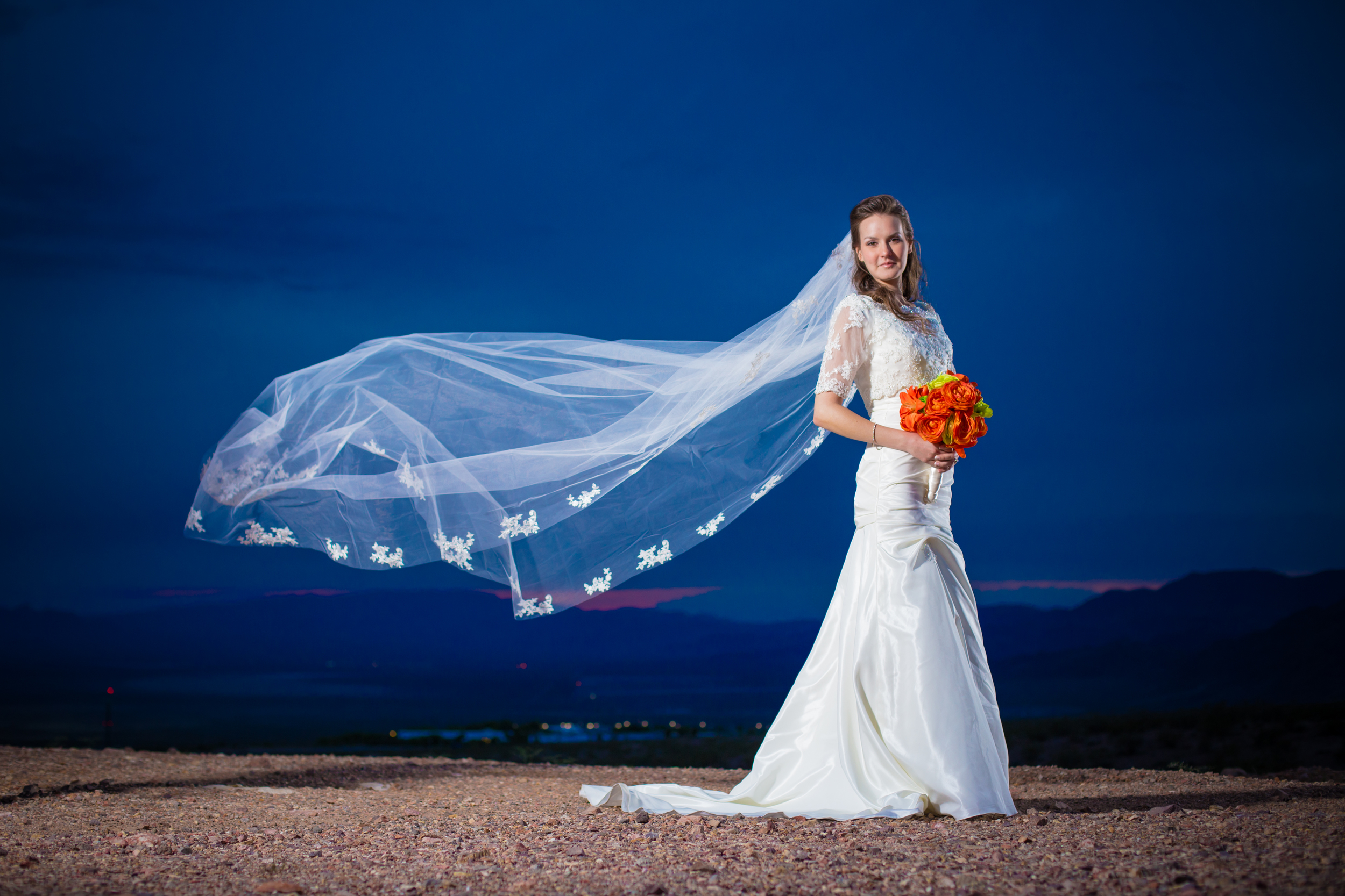 This photo took a few tries but I think we nailed it. I love the long veil just floating in the air.
