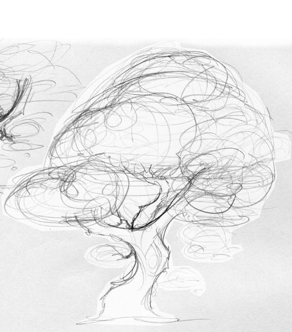 sketch: a cherry tree