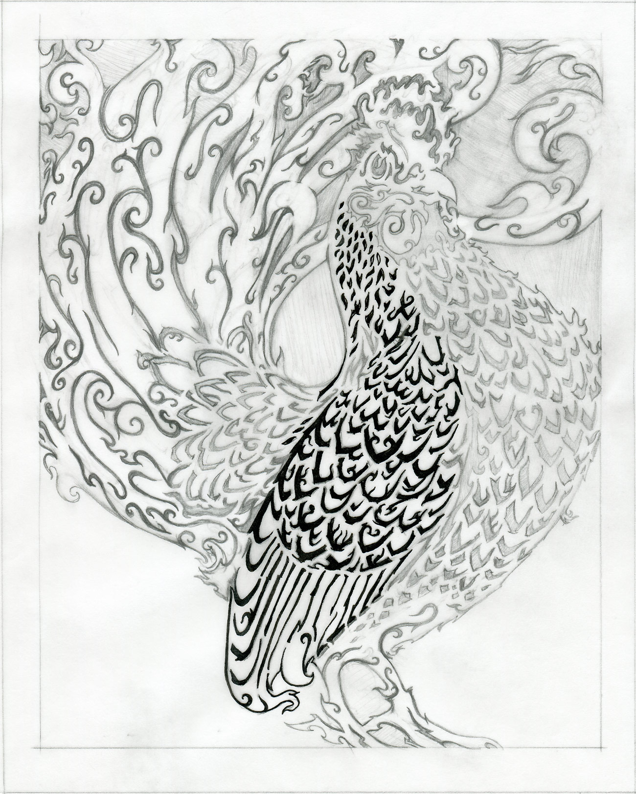 ⊛  The Year of the Rooster   ⊛ Final Drawing (...I'm pretty sure)