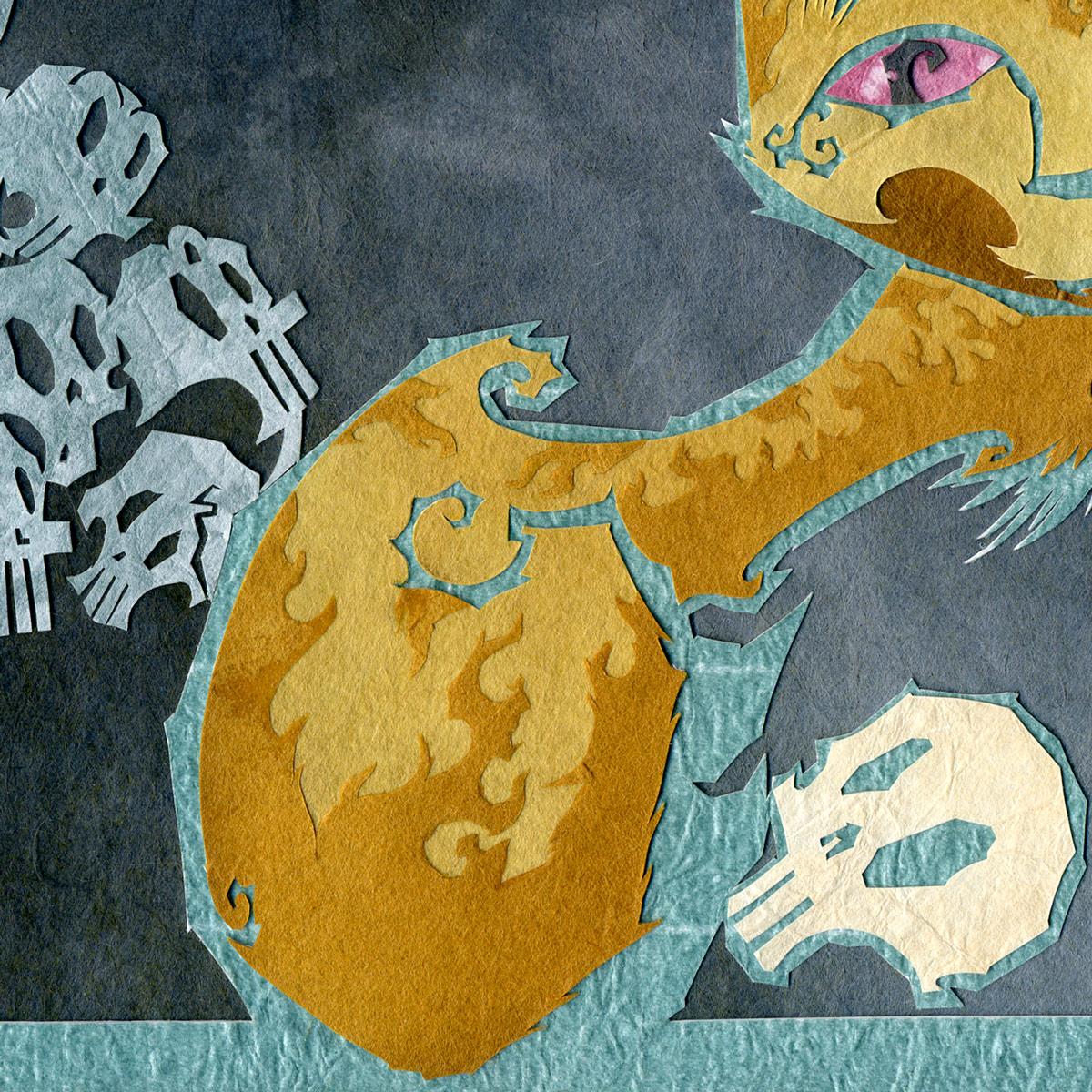 Fierce Nekomata and the Skull of Goemon