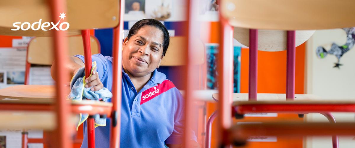 Happy Sodexo employee