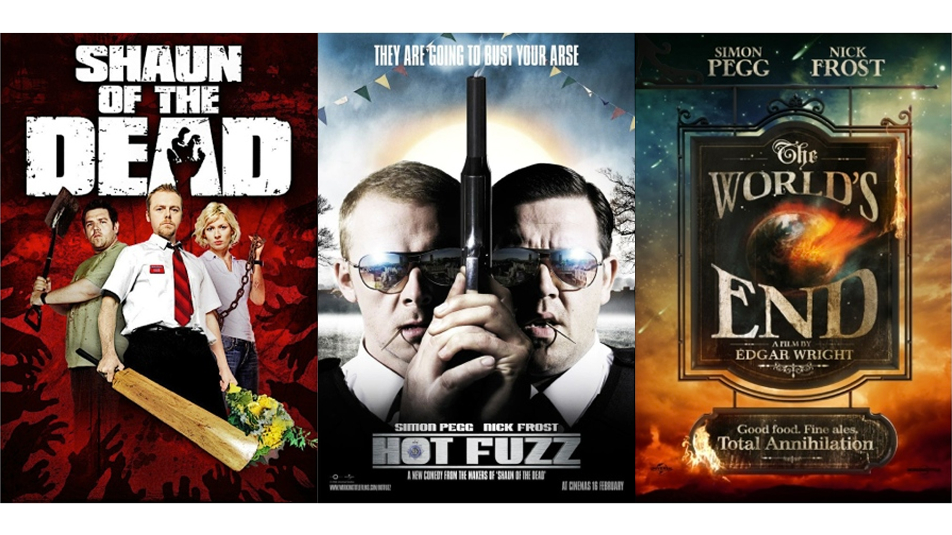 Let's get one thing straight,  SUPERZEROES is not a spoof!One of the biggest influences are the films of  Edgar Wright  and Simon Pegg - Shaun of the Dead ,  Hot fuzz  and  The Worlds End. All incredibly funny films, that would be easy to categorize as paradoy.However, unlike the scary Movie or The Naked Gun films that send up the genre,they are in fact  love letters to the zombie, action and sci fi genres;w  ith much more personal stories being told among the madness.   SUPERZEROES also takes influence from slapstick comedies such as  Some Mothers do have em and  Fawlty Towers  to the more bizarre/anarchic comedies such as  Monty Python ,  The Mighty Boosh and  The Young Ones to the more relatable and down to earth comedies  The Office  and  I'm Alan partridge .