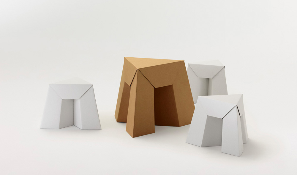 Paper Tiger Stool and Kids Stool