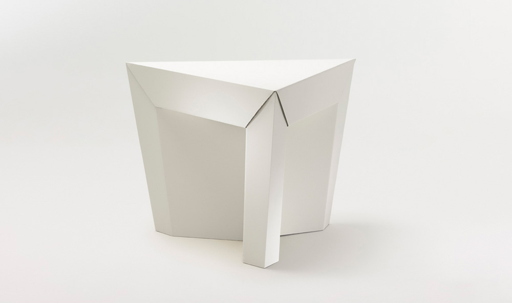 Paper Tiger Cardboard Table White