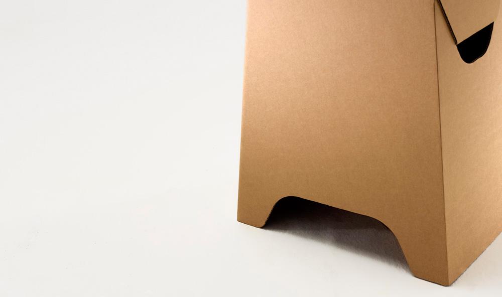 Paper Tiger Square Stool Detail