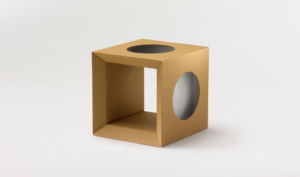 Paper Tiger Cardboard Cube
