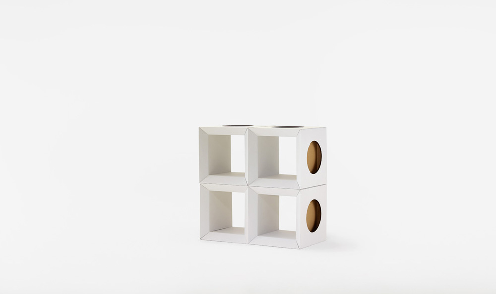 Paper Tiger Cardboard Cube stack of 4