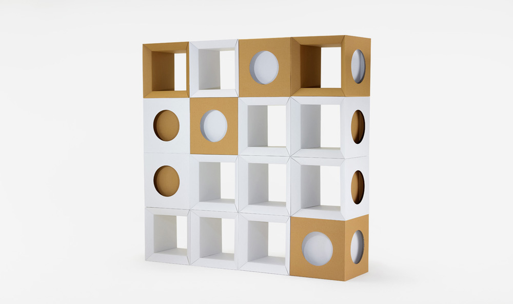 Paper Tiger Cardboard Cube stack of 16