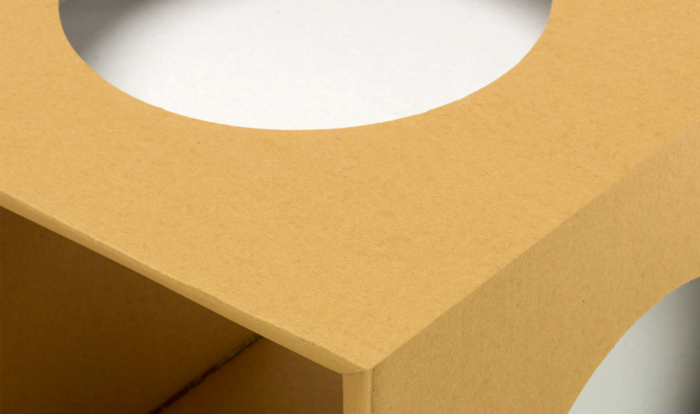 Paper Tiger Cardboard Cube Detail
