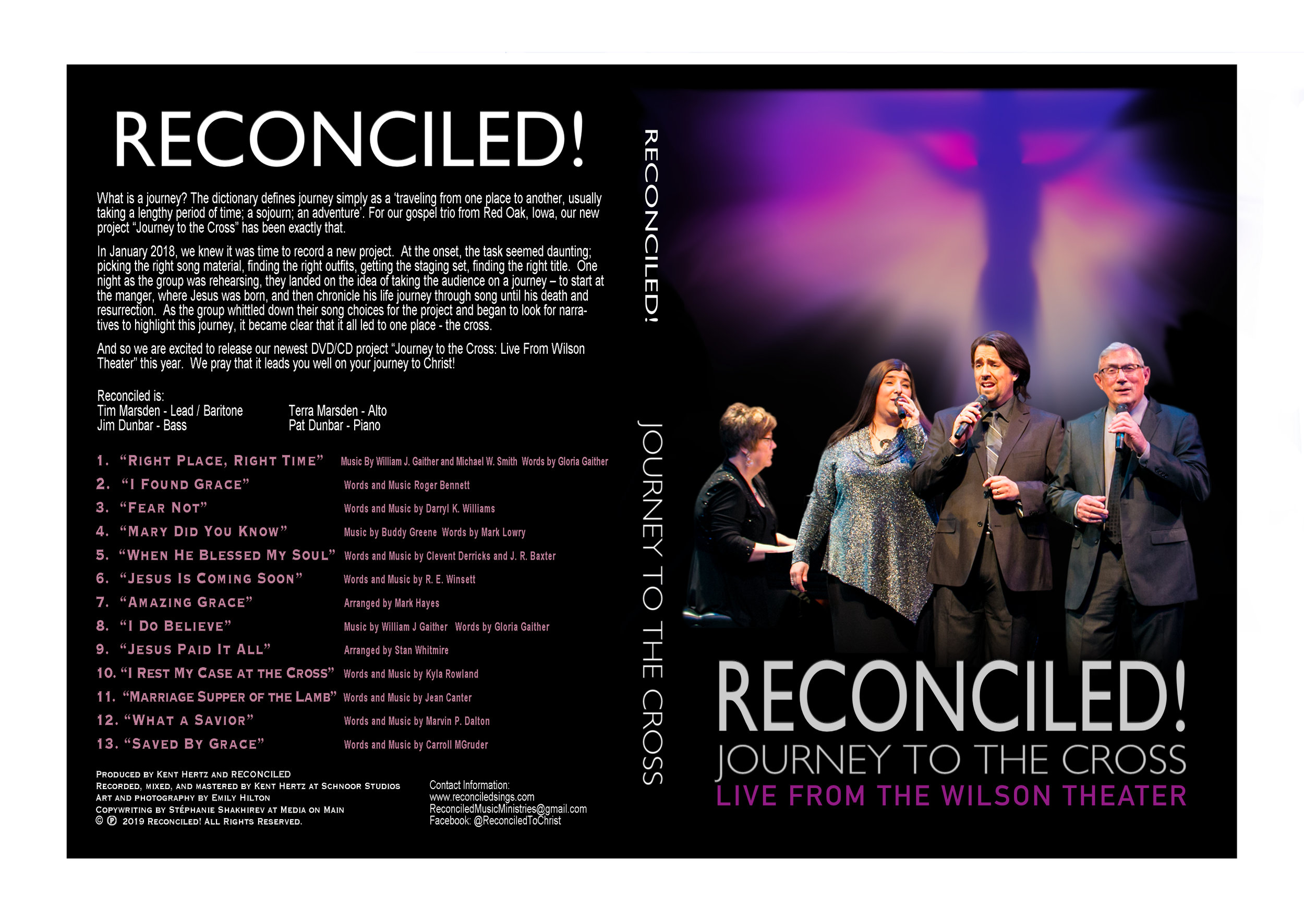 RECONCILED!  - JOURNEY TO THE CORSS - LIVE FROM THE WILSON THEATER DVD