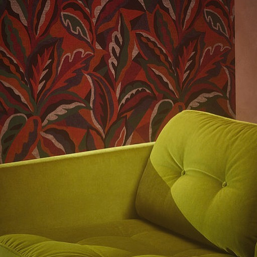 Sofa for @sahco_official Set design by @andyhillmanstudio and photographs that look like oil paintings 😍by @caspersejersenstudio #sahcofabrics #greenvelvet #upholstery