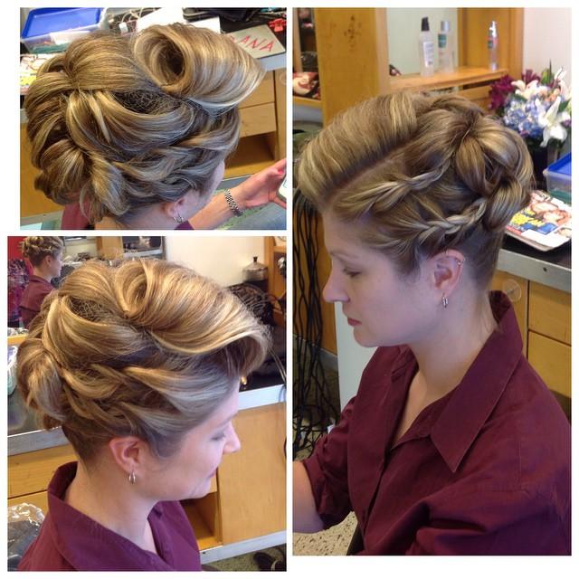 Updo by Dana! #updo #braids