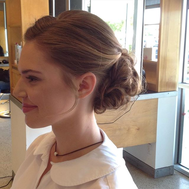 Side view of some beautifully detailed work! #specialoccasionhair #promhair #updo