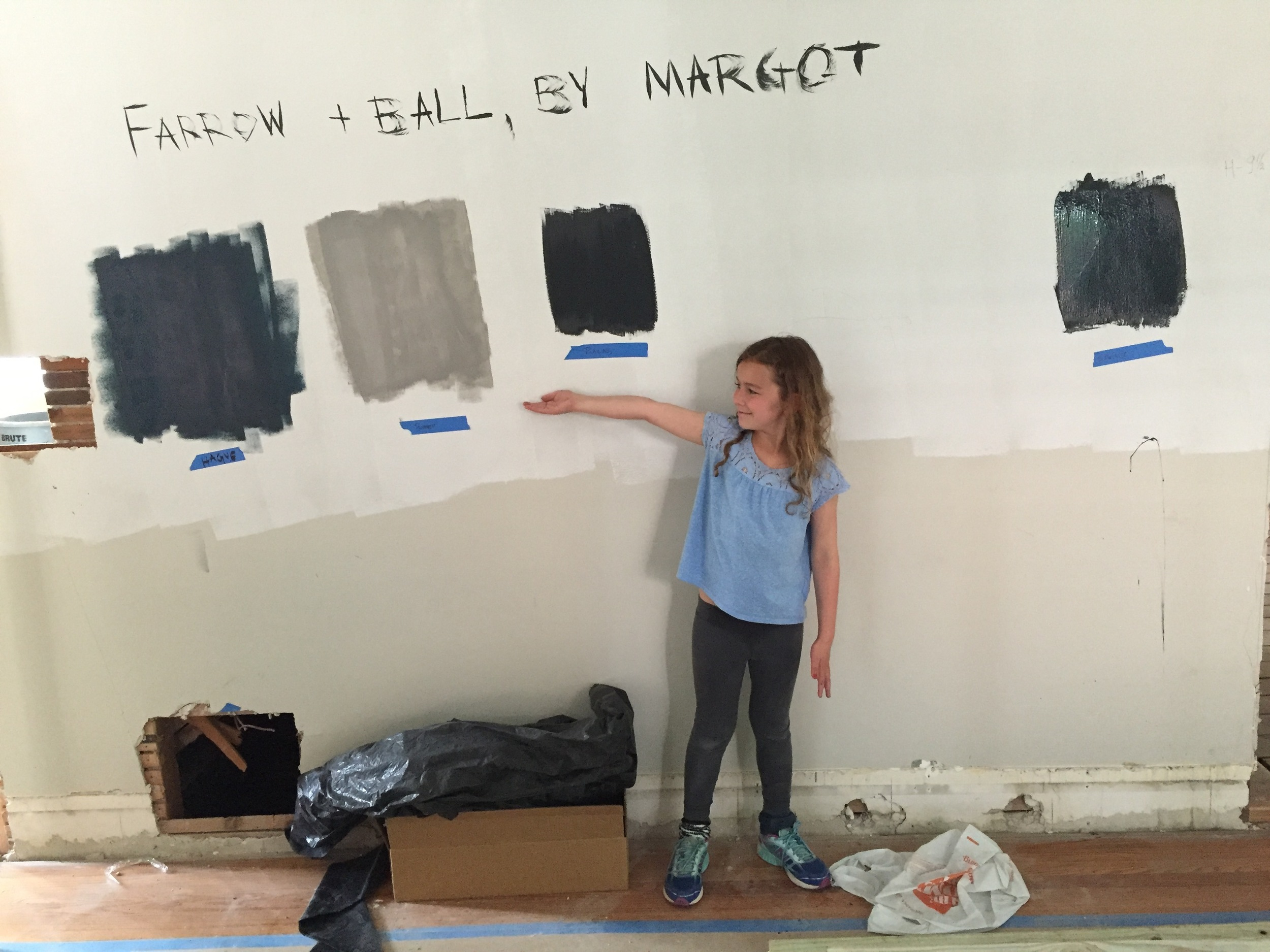 Our resident artist at work. It's not too early to start thinking about the interior paint schedule.