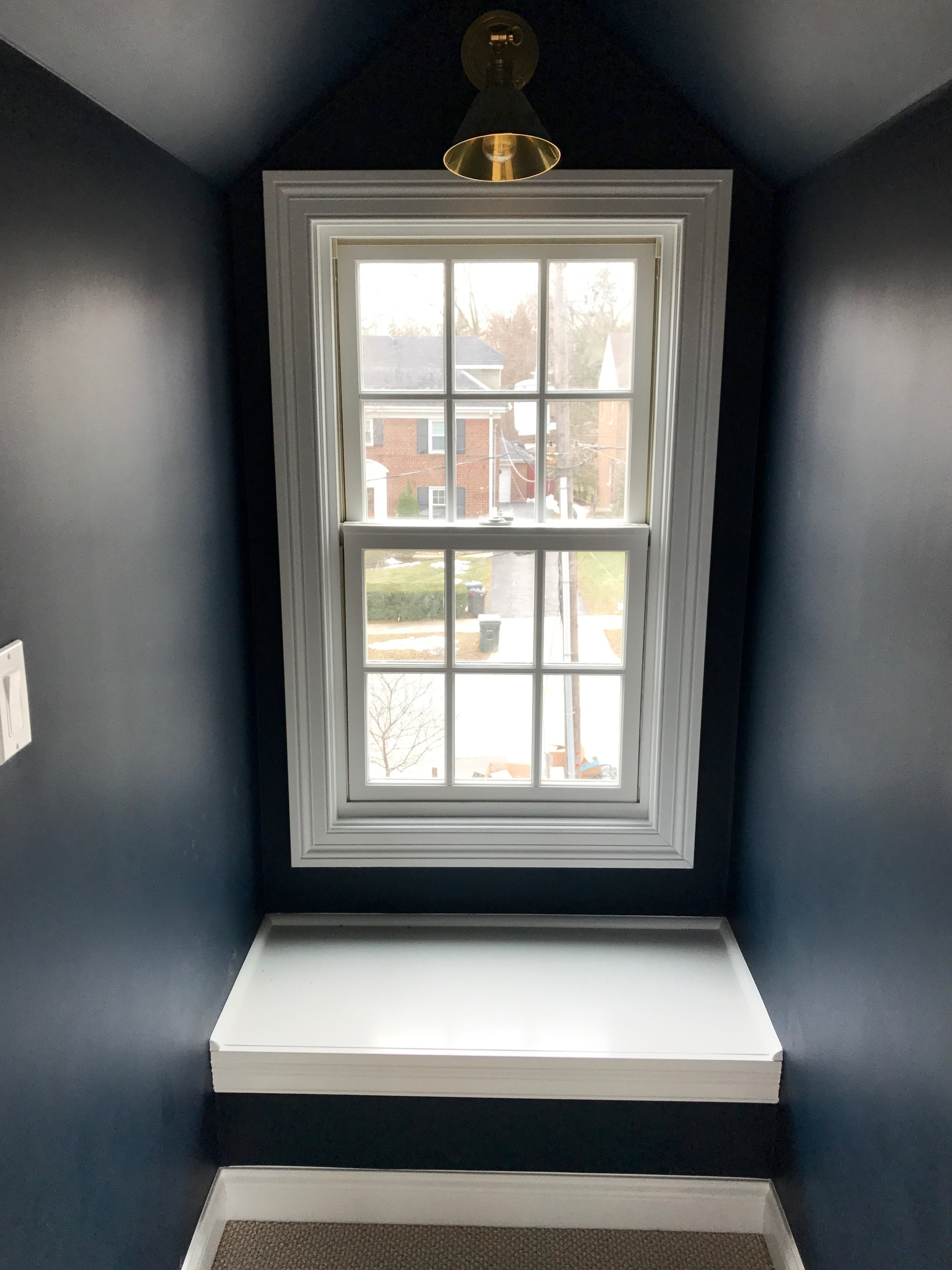 Installing a window seat in the dormer just seemed like the right thing to do. Also approved by the Fairy Castle Building Authority.