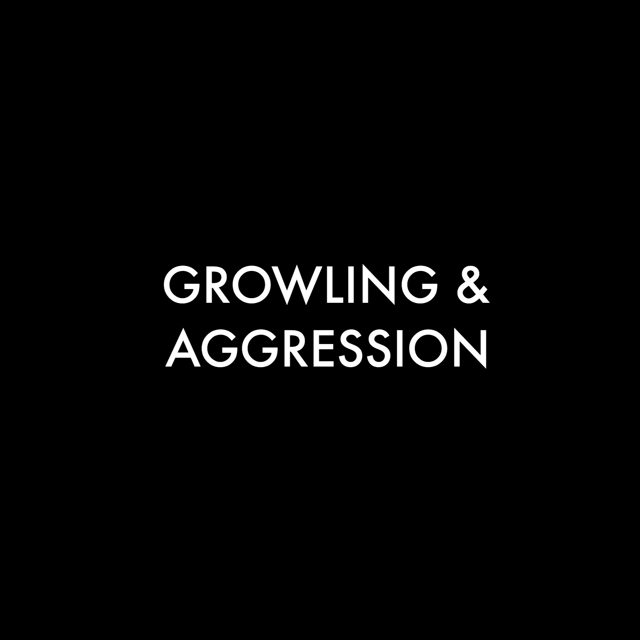 Growling and aggression