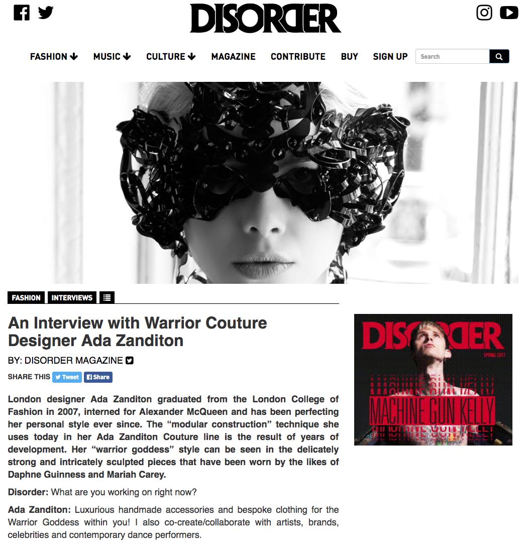 disordermagazineinterview