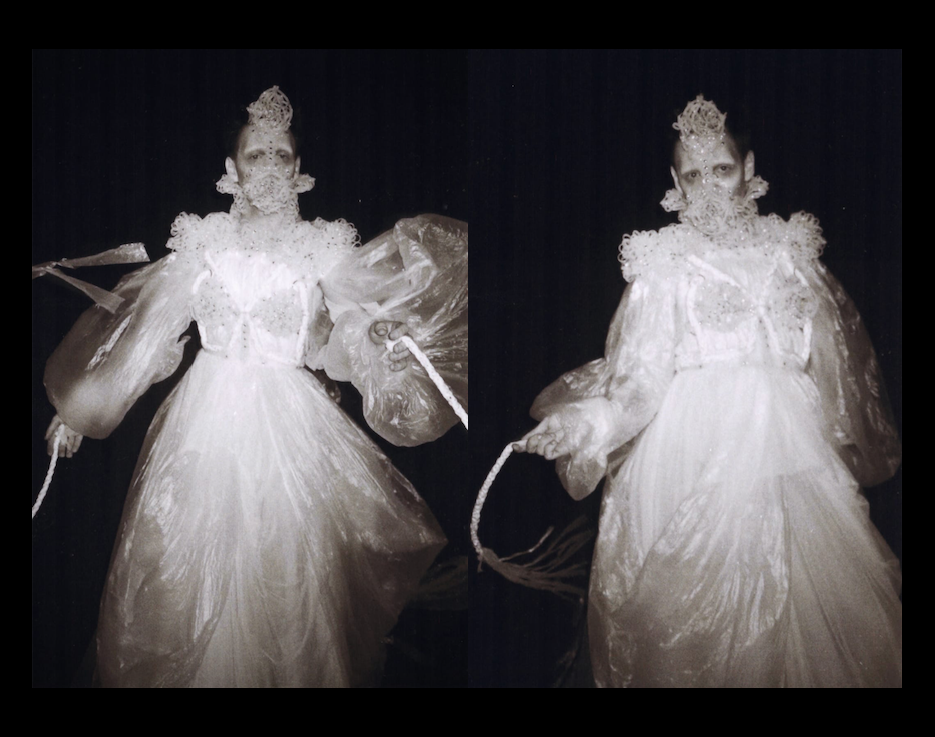 CONDOM ROPE - My costume commissioned by and created for Tim Yip's Southbank Centre show CLOUDS