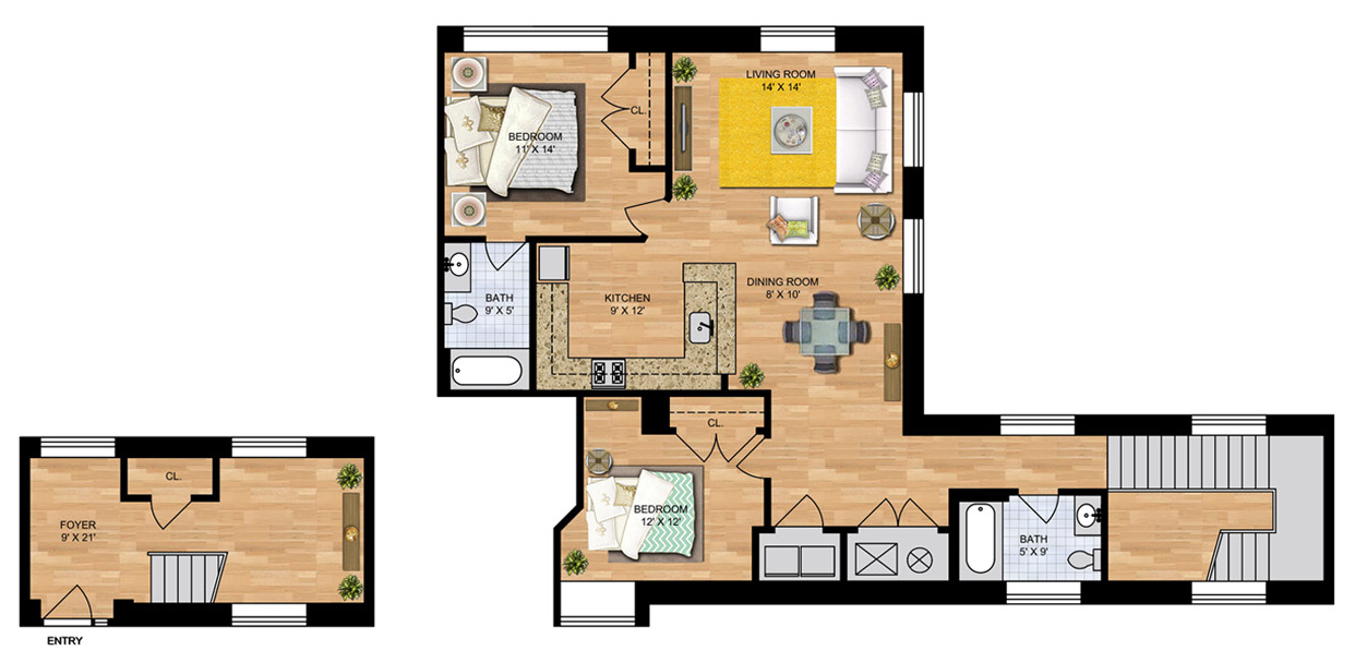 Two Bedroom - Condo