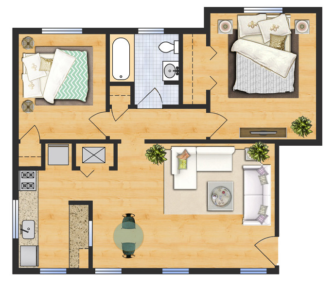 Two Bedroom - Apartment