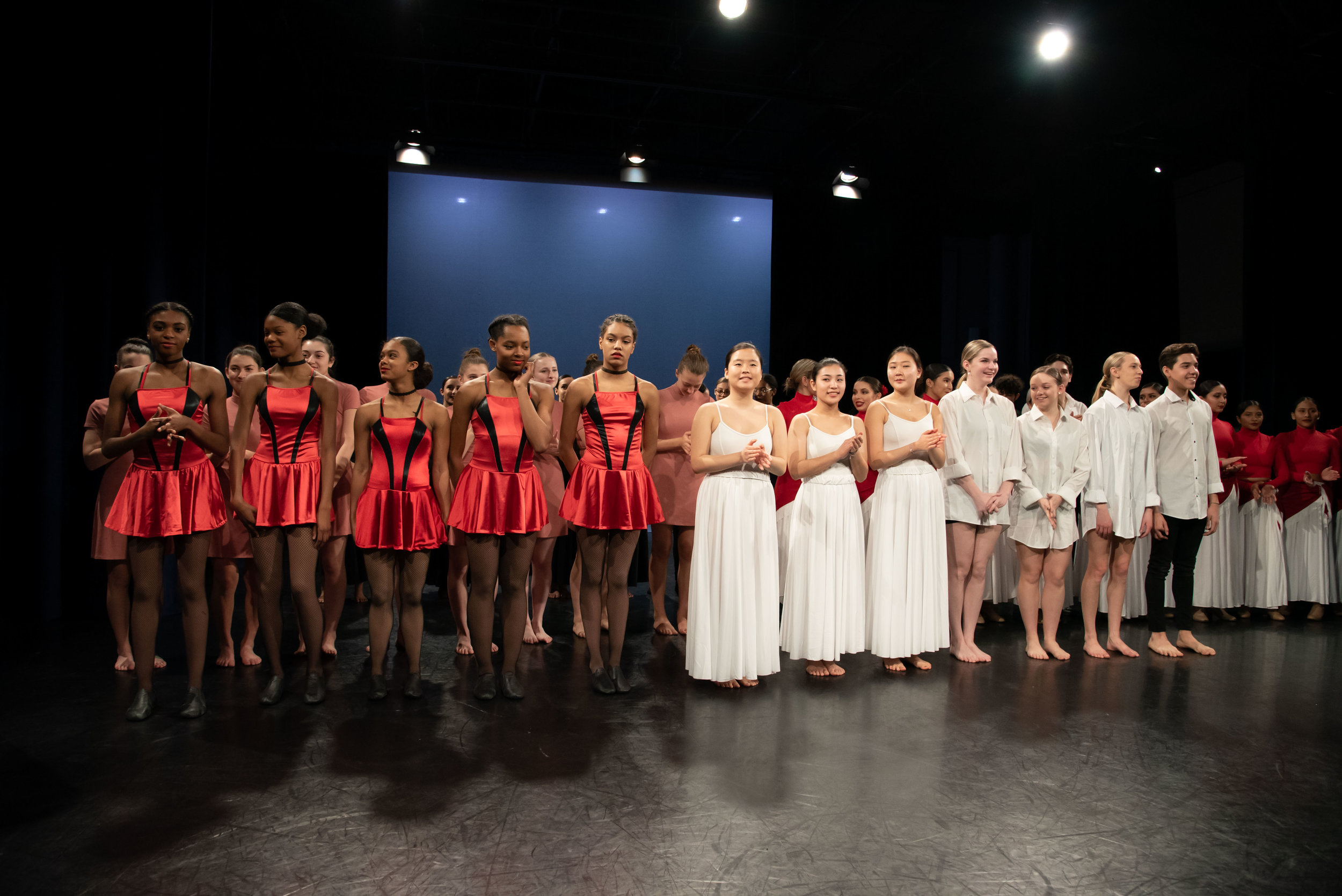 Members of the National Honor Society for Dance Arts