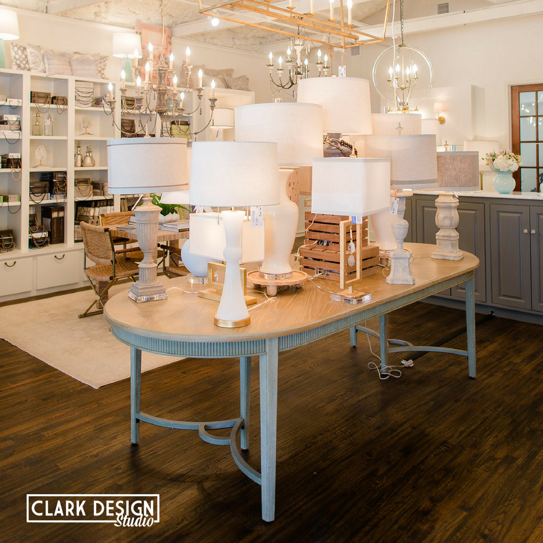 Save 20% - You will save 20% at all participating retailers from October 17-27, 2018. Clark Design Studio is a retailer! We are offering 20% off of all in-store merchandise. It's time to get the lamp you've been 👀!