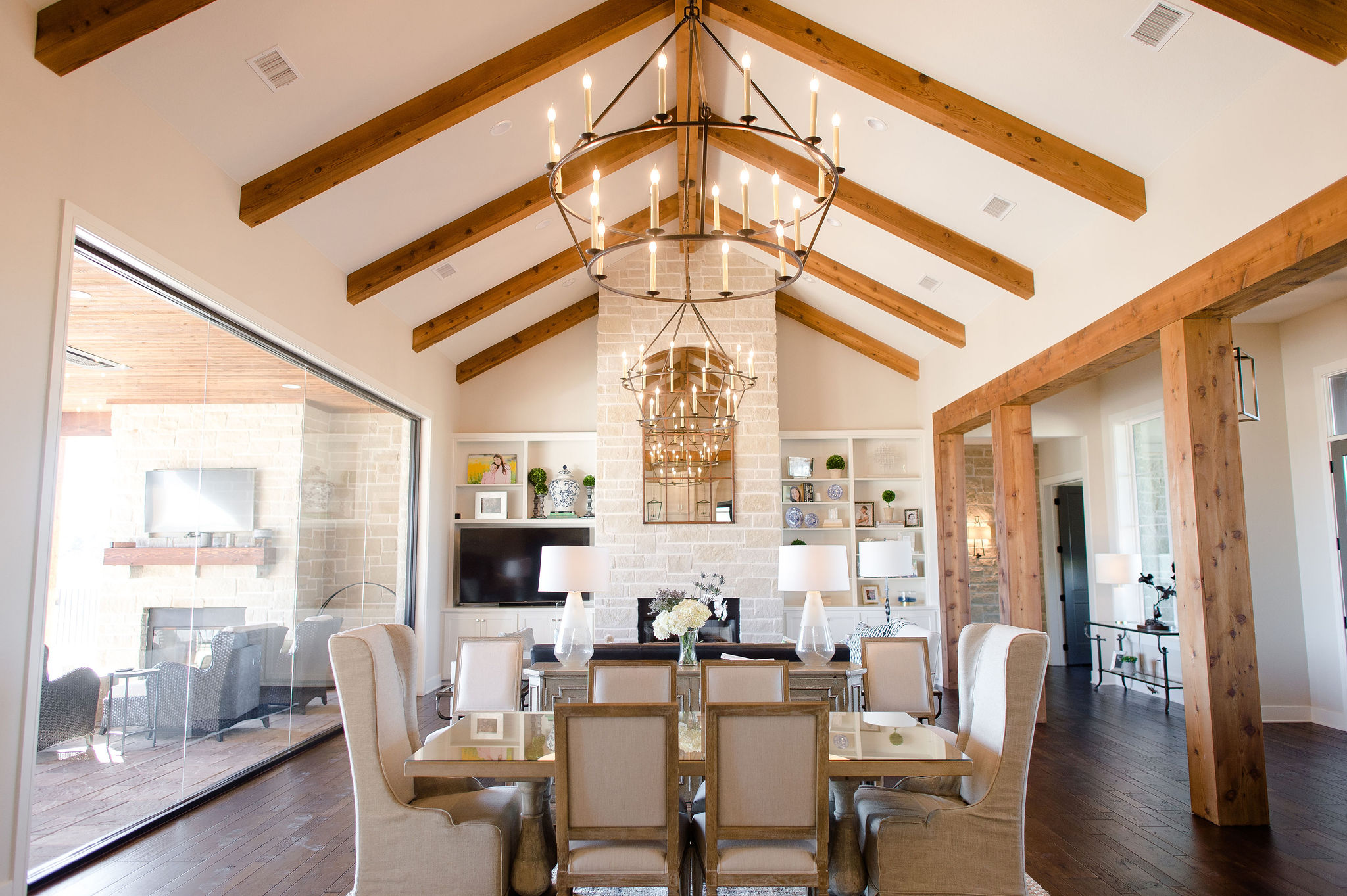 Clark-Design-Studio-Hill-Country-Transitional-exposed-beams-dark-wood-iron-light-fixtures.jpg