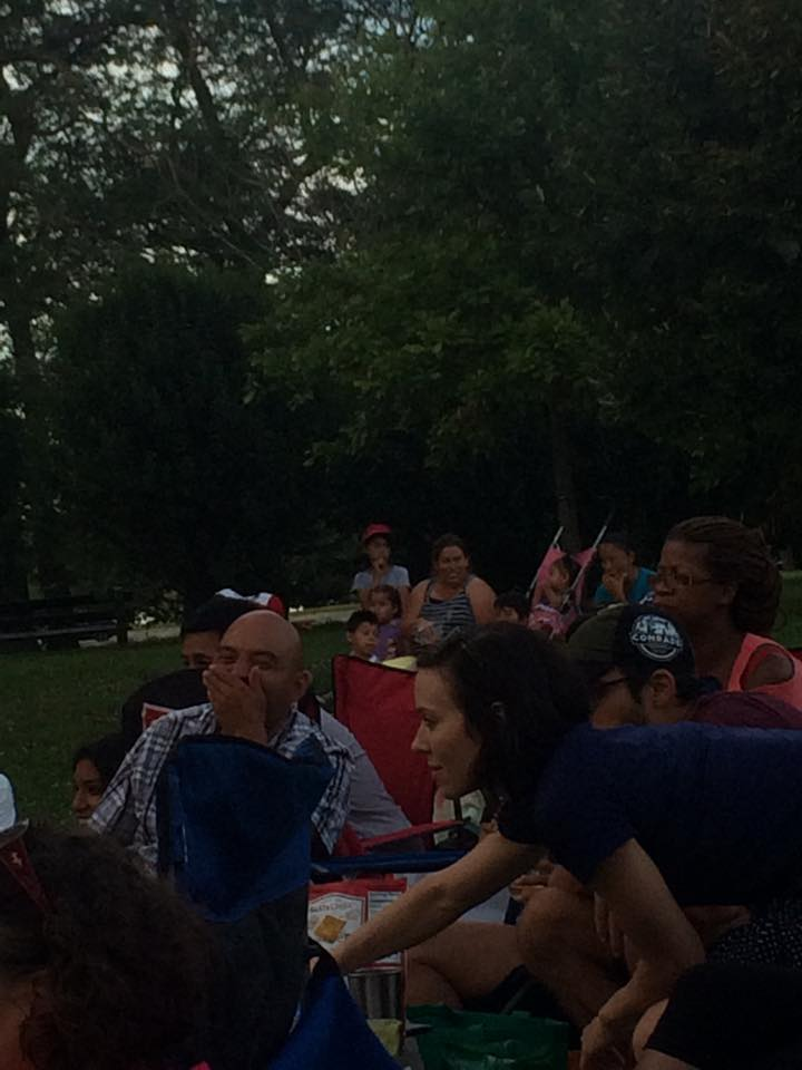 Audience watching the play at Calumet Park.