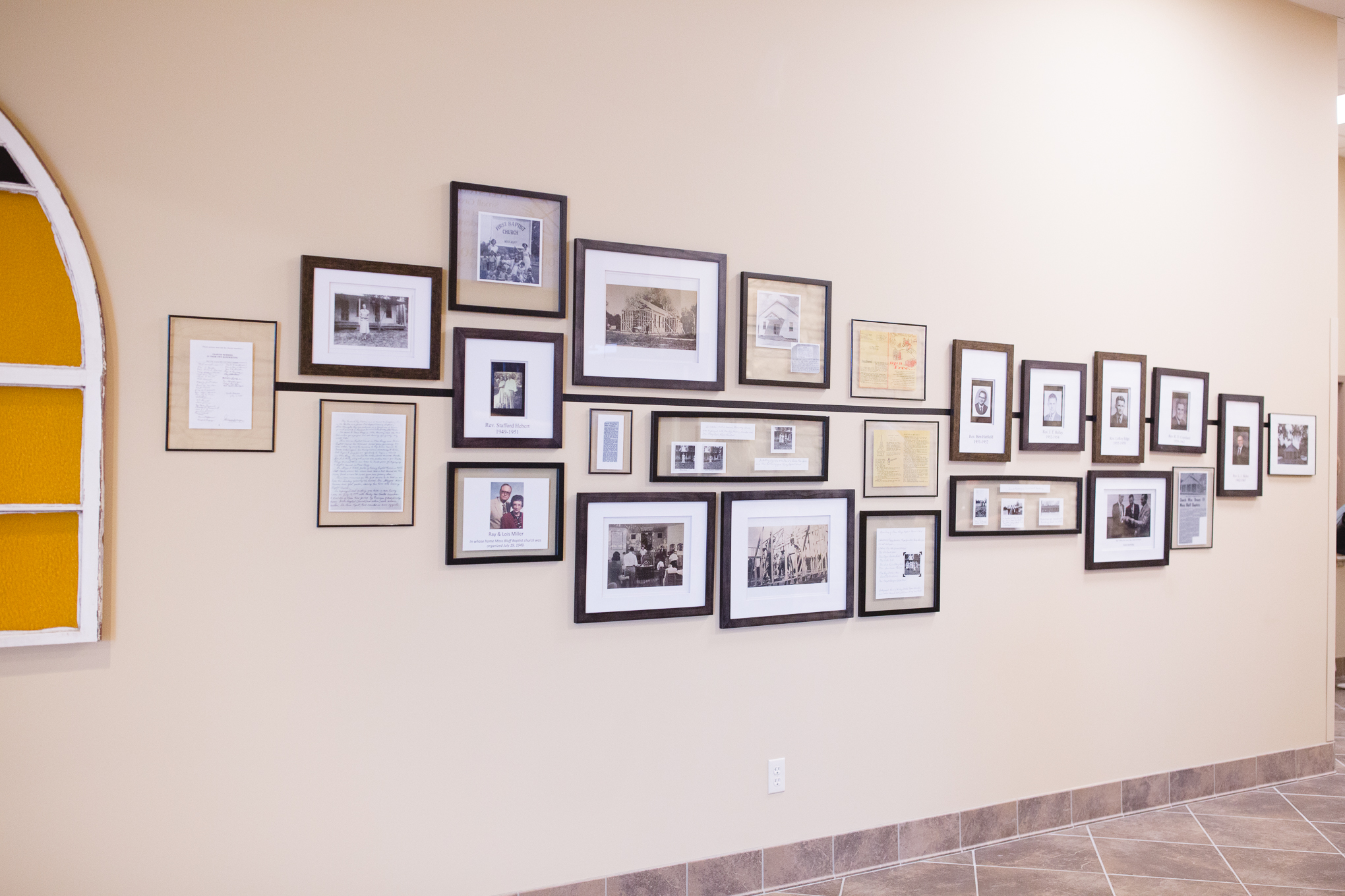 In the hallway of our new worship center, you can find a timeline of our church's history.