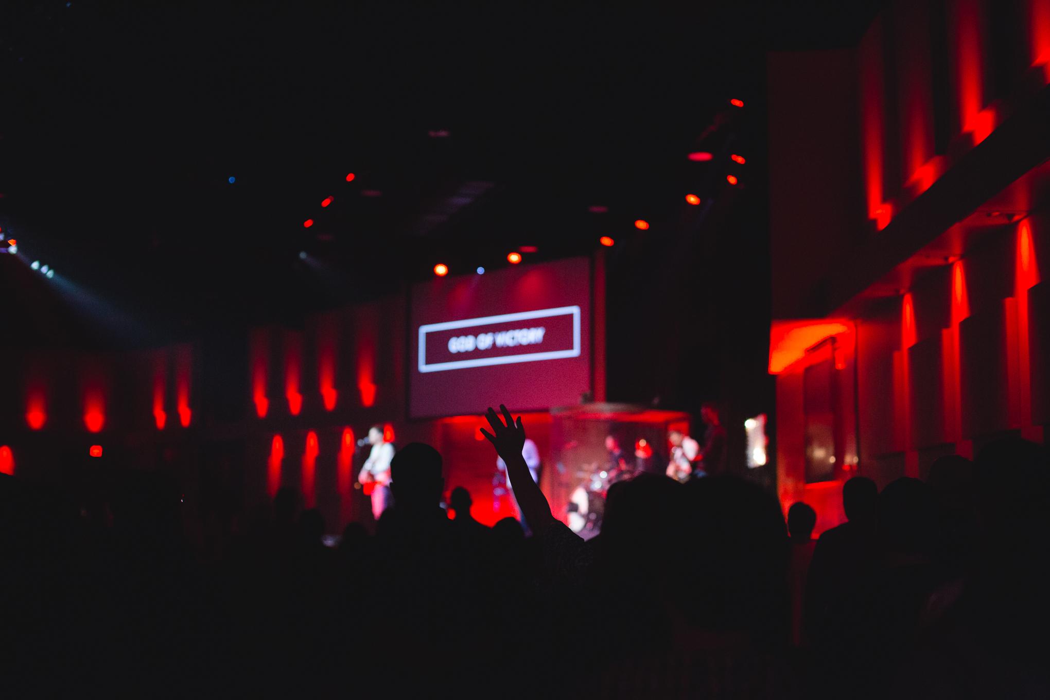 Each week we worship with around 1,400 people.