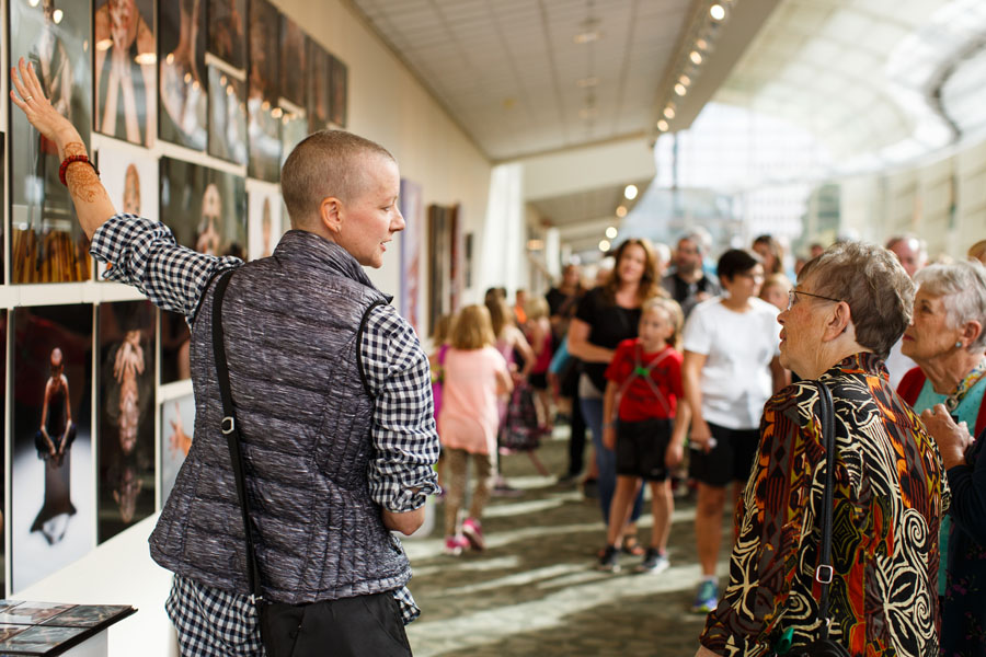 Veteran's Public Vote Award: ' Crowns of Courage ' at DeVos Place Convention Center, by Steven Stone, Amanda Gilbert and Dave Burgess