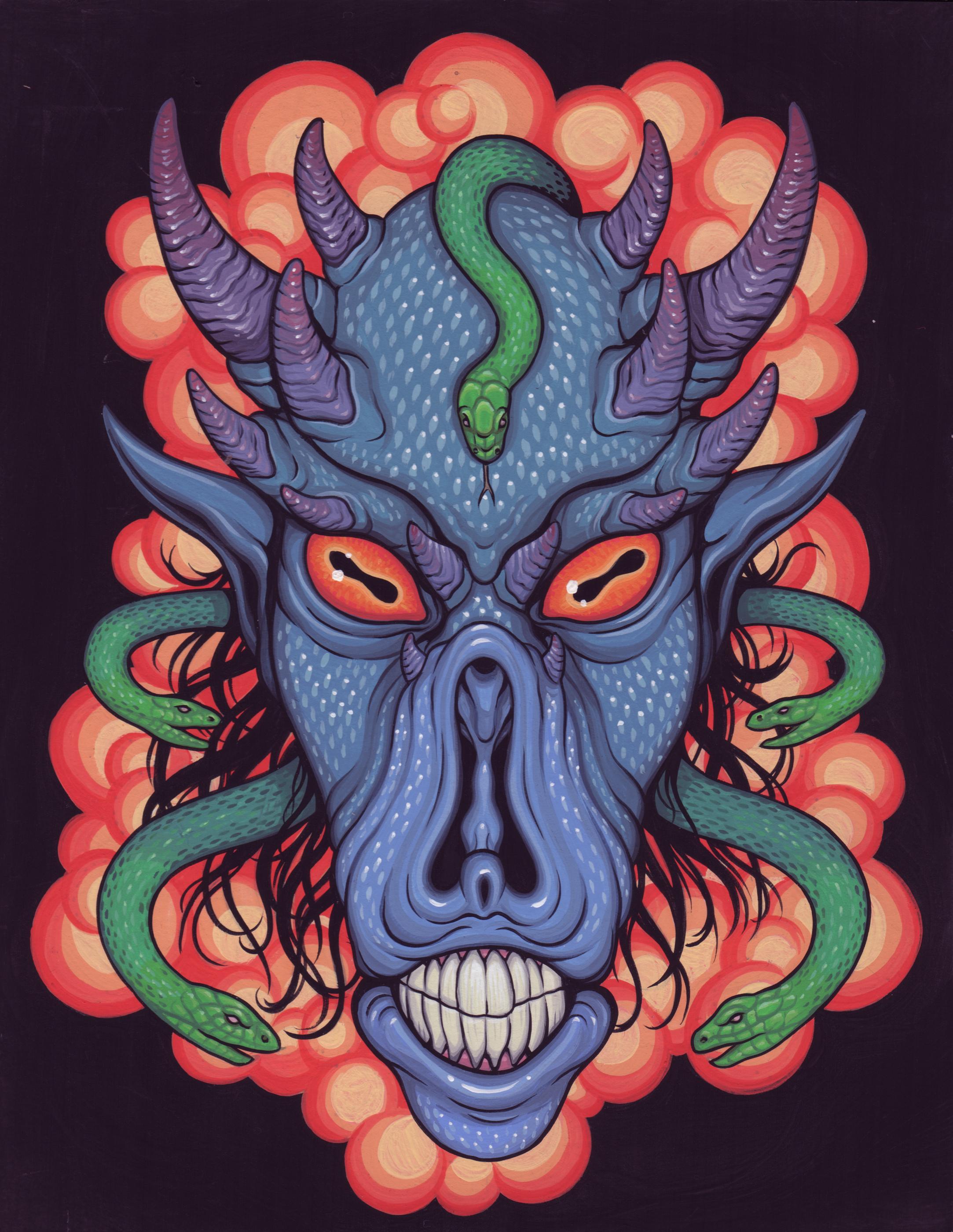 Demon Head Study 4