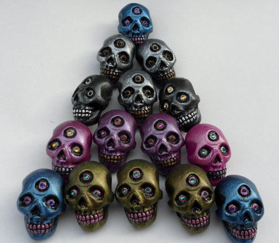Mutant Skull Pins