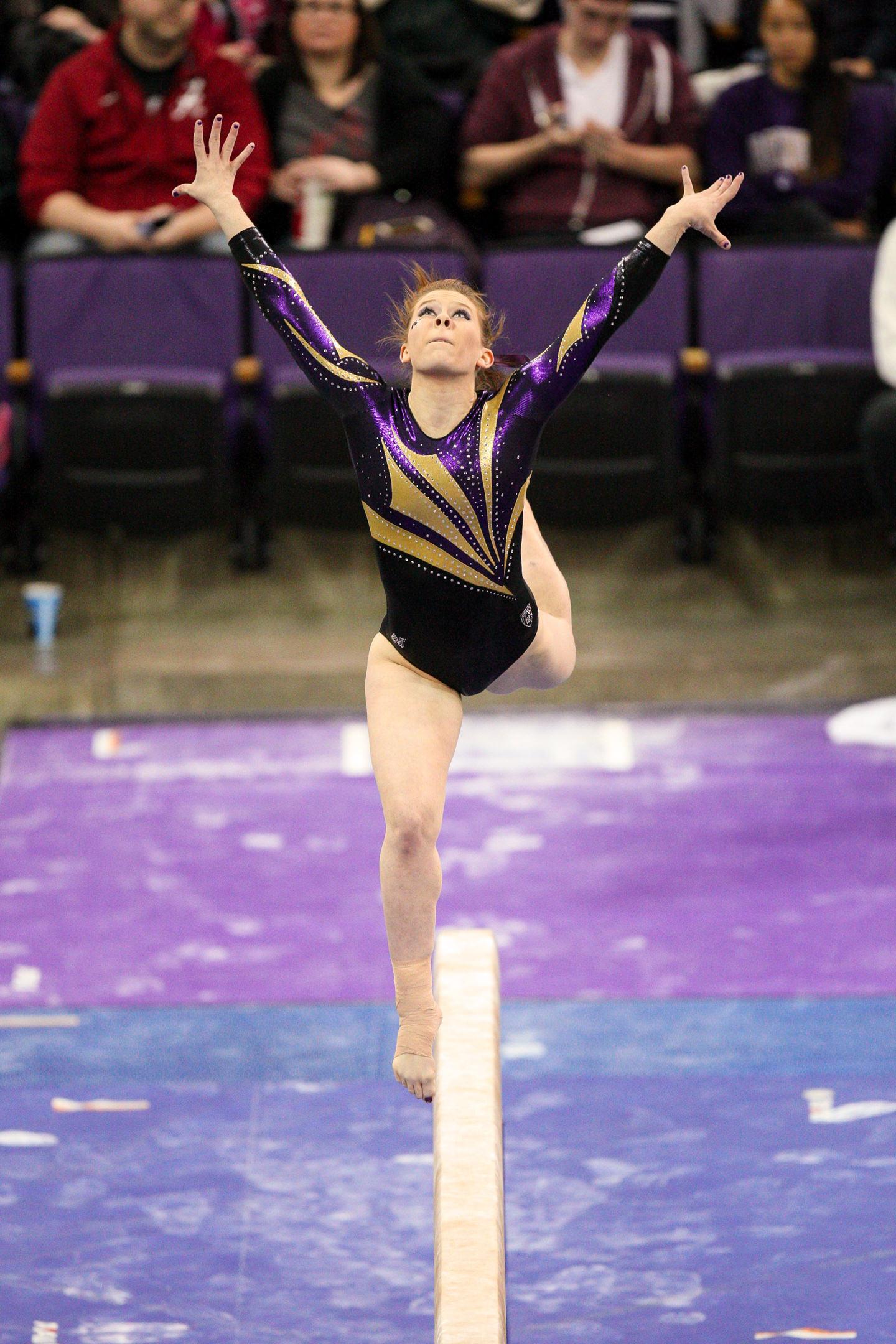 University of Washington Huskies Gymnast Jackie McCartin on Beam