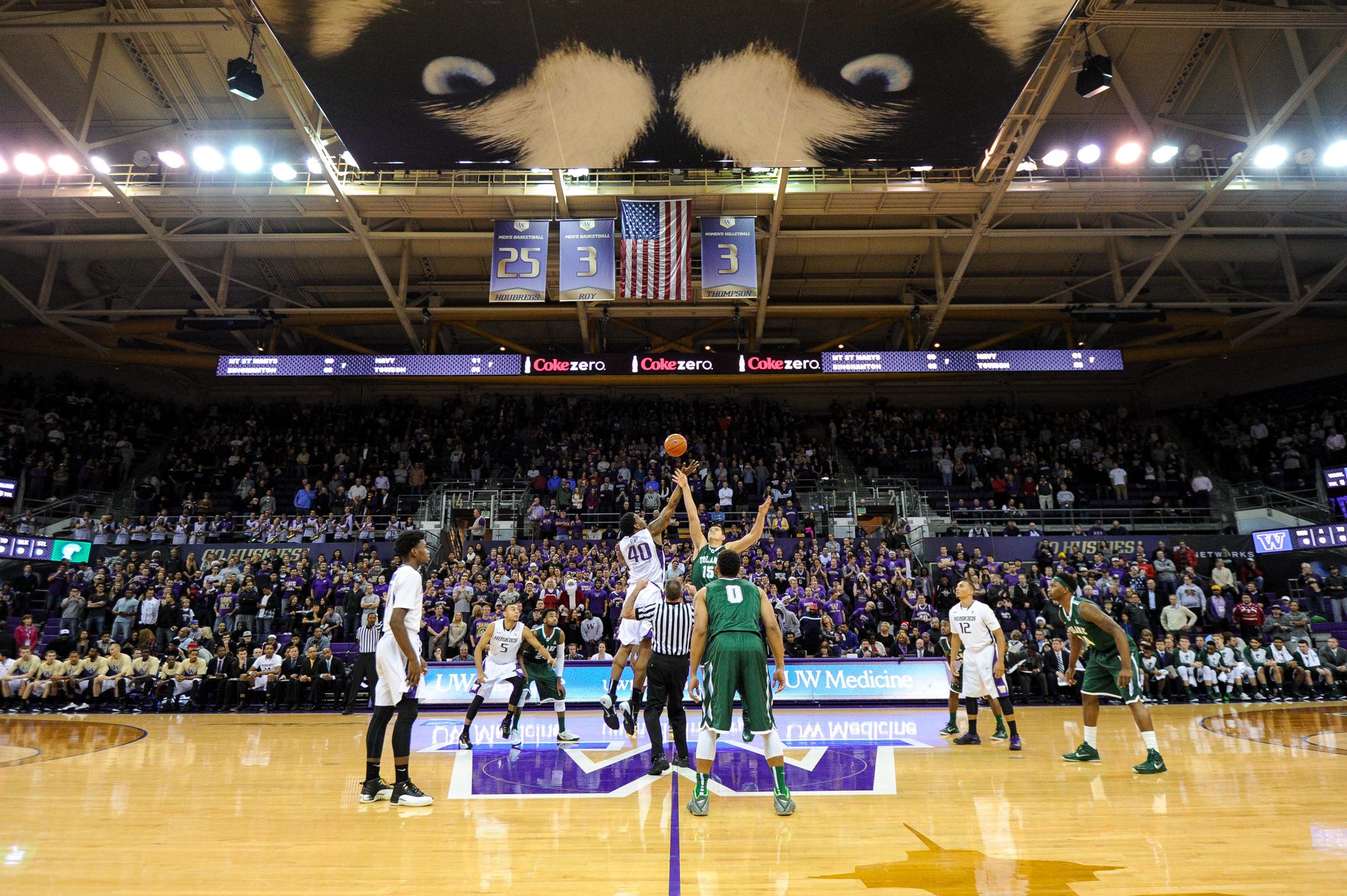 University of Washington Huskies Men's Basketball versus Tulane Green Wave Tip Off