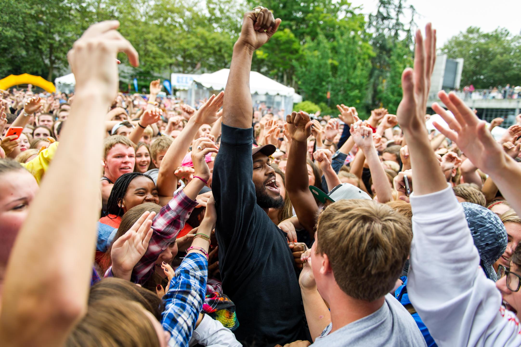 Raz Simone with Sam Lachow at Bumbershoot Music Festival at Seattle Center Washington 2014