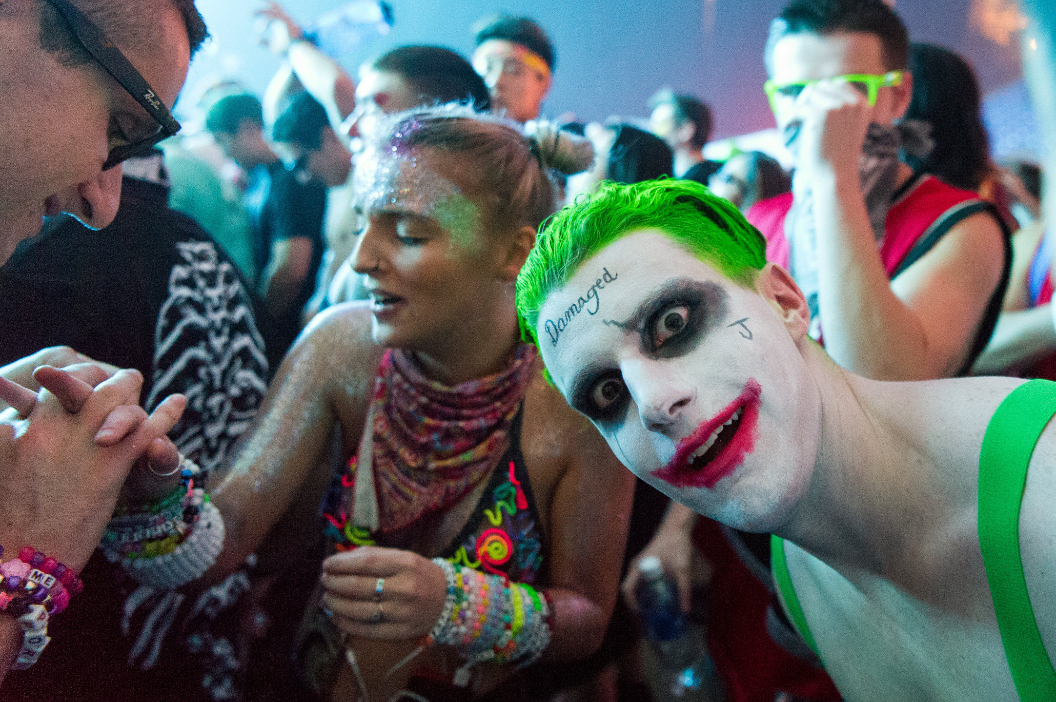 Festival Raver Joker Costume at USC Events FreakNight at the Tacoma Dome 2016