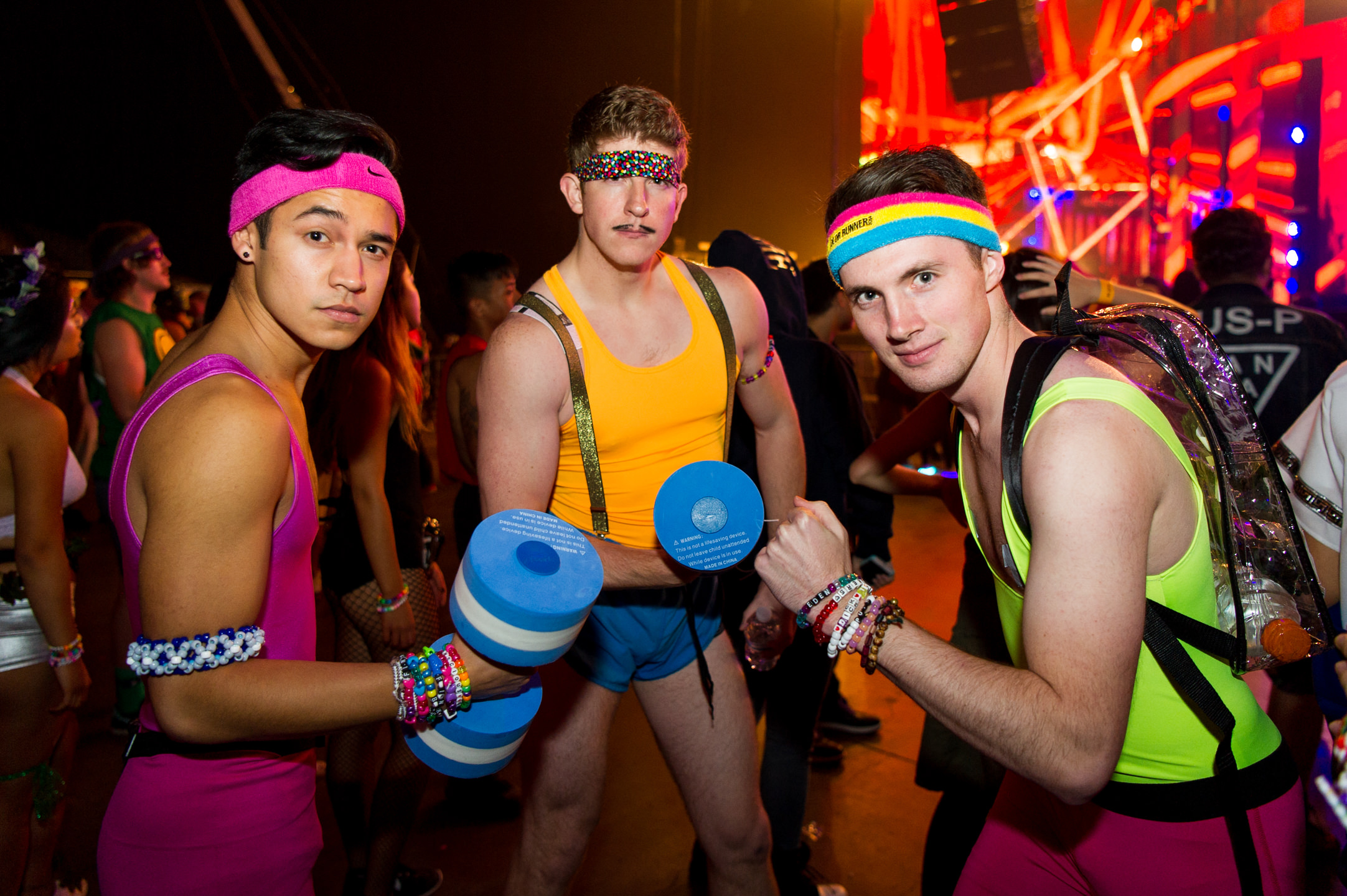 Festival Raver Trio Retro Runners Costume at USC Events FreakNight at the Tacoma Dome 2016