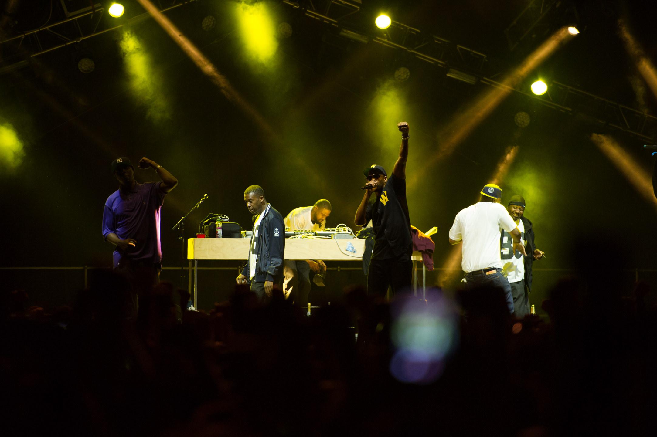 Wu-Tang Clan headlining at Bumbershoot Music Festival at Seattle Center 2014
